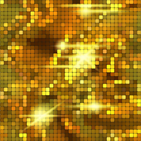 glitter ball: Gold texture. Illustration