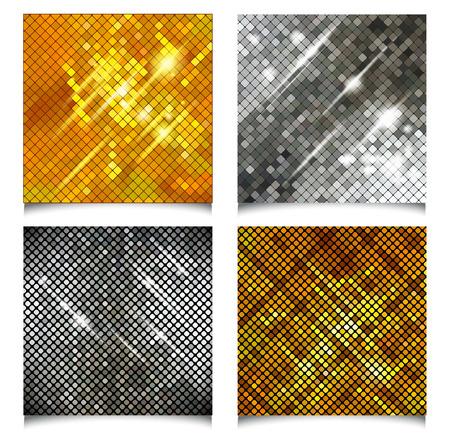 metallic: Metallic texture. Vector set