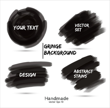Paint stains brush Vector