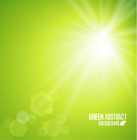 green background: Abstract nature background