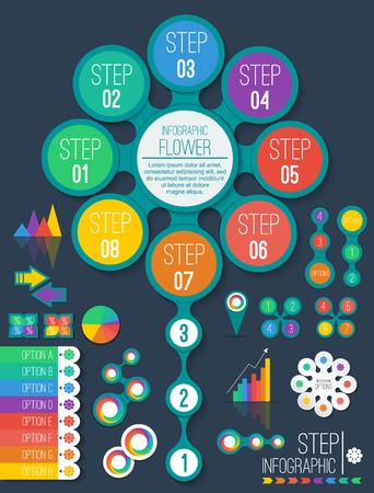 instruction manual: infographic design element Illustration