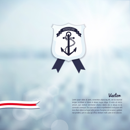 Sea nature background Illustration