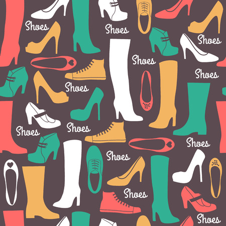 shoe sale: Shoes seamless pattern.