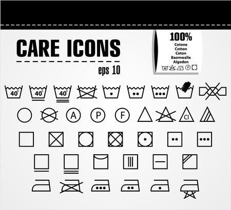 deterioration: Care icon set.