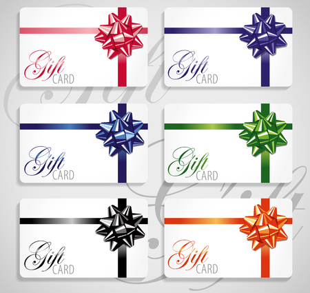 nominations: Gift card set.Different nominations Illustration