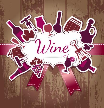 christmas list: Wine menu background