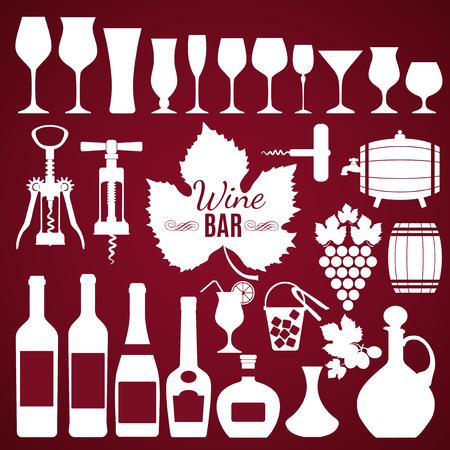 illustratio: Wine menu background. Vector stock illustratio. Card menu.
