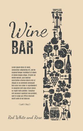 bottle label: Wine card.
