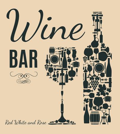 wine card: Retro wine card