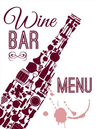 wine vineyards: Wine menu card.
