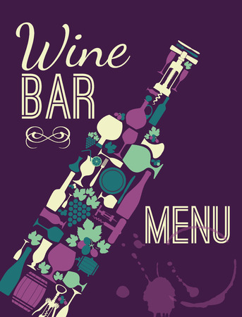 Wein-Menü-Karte. Standard-Bild - 37824738