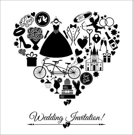 betrothal: Wedding card invitation Illustration