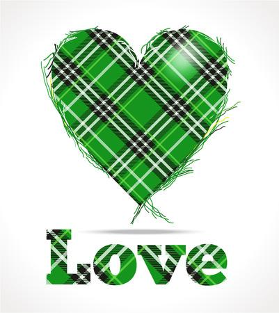 irish christmas: Green love Illustration