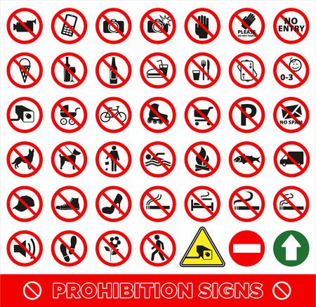정해진 symbol.Prohibition 기호를 설정합니다. 벡터 아이콘 설정합니다.