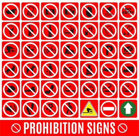 Prohibition set symbol Vector
