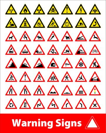 rockfall: Warning sign symbol. Set design icons element.