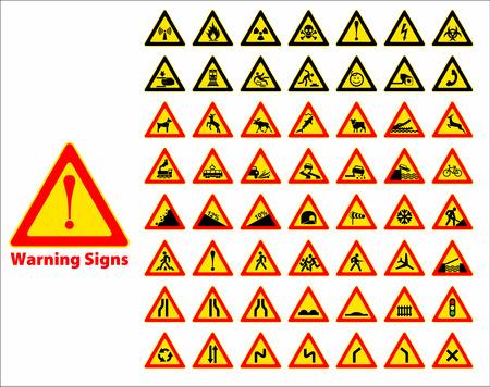 warning triangle: Warning sign symbol. Set design element.