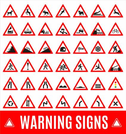 dog shark: Warning sign symbol. Set design icons element.
