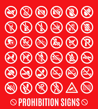 Prohibition symbol. Vector