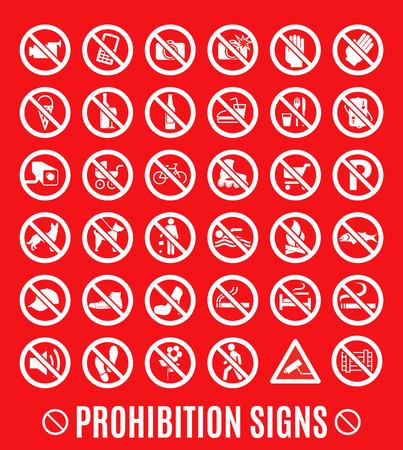 Prohibition symbol.