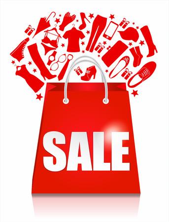 販売袋。ショッピング バック グラウンド。