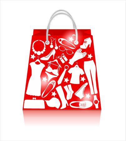 Sale bag. Shopping background. Иллюстрация