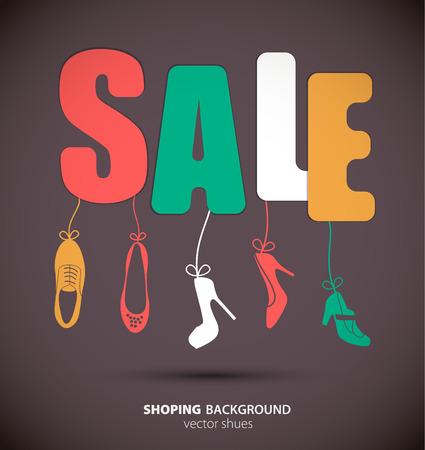 shoe sale: Shopping sale banner for shoe. Vector ilstration.