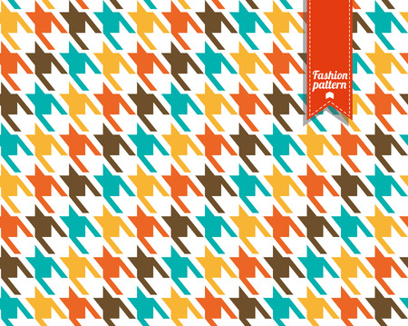 Seamless fashion fabric pattern. Dog toth texture.