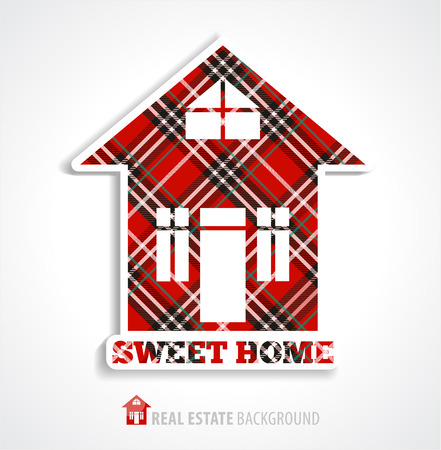 Real estate home illustration