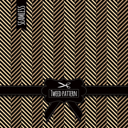 tweed: Seamless fashion pattern. Vector stock tweed pattern.
