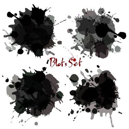 blots: Abstract set blots. Vector background.