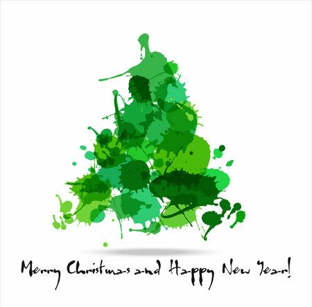 Tree blots christmas decoration. New year background.
