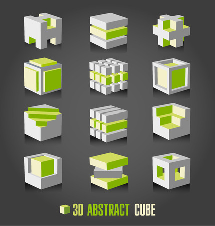 cubo: Cubo adstract 3d Vectores