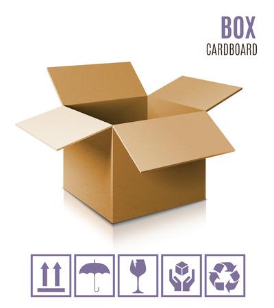 Boîte en carton icône. Vecteurs