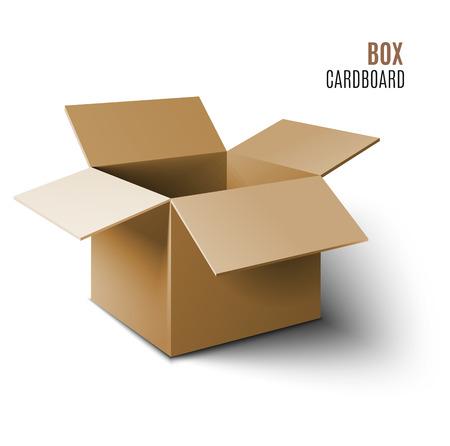 tektura: Ikona pudełko kartonowe. Wektor 3d model polu.