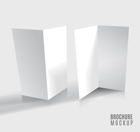 carpeta: Dise�o del folleto aislado en gris. Ilustraci�n del vector. Vectores