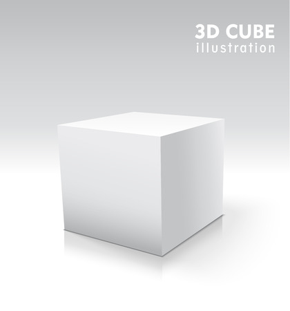 Vector 3d cube for your graphic design.