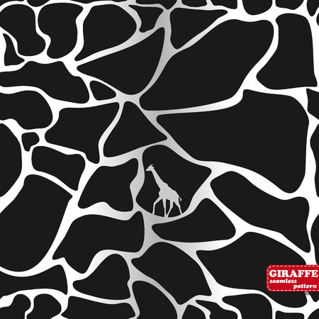 south african: Animals background texture. Giraffe seamless style pattern.