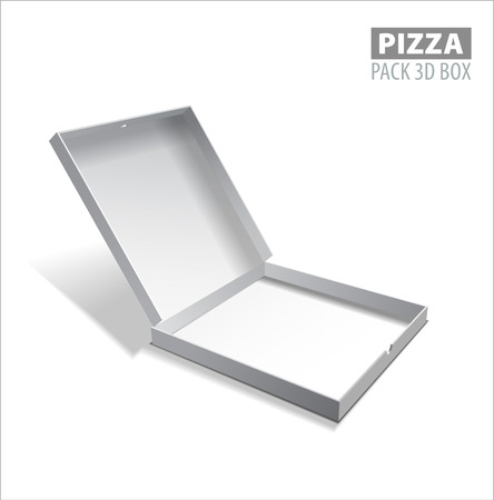 corrugated box: Vector pizzza box illustration. Illustration