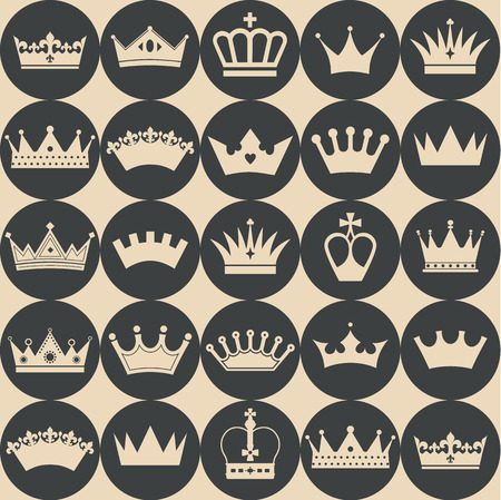 royal background: Seamless crowns pattern