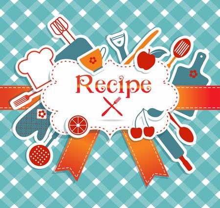 drink tools: Recipe illustration. Kitchen background.