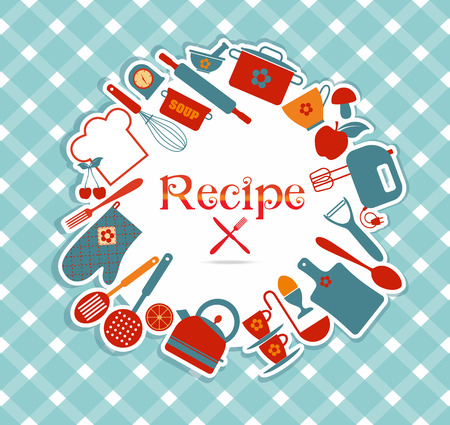 Recipe vector illustration