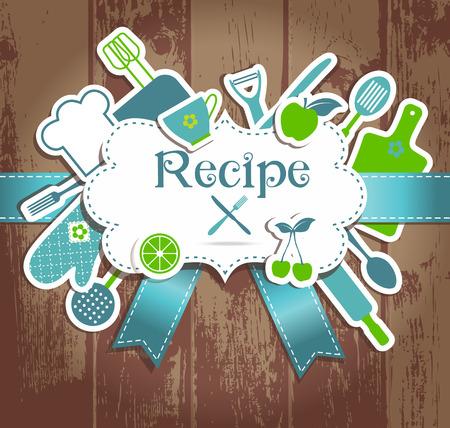 Recipe Illustration. Kitchen Background. Frame For Recires. Royalty ...