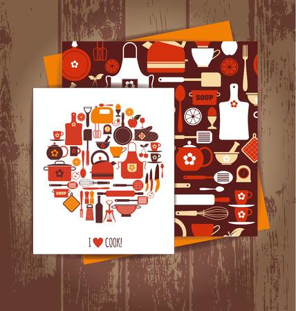skillet: Kitchen background
