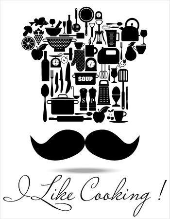 drink tools: Kitchen icons set of tools. Restaurant decoration. Illustration