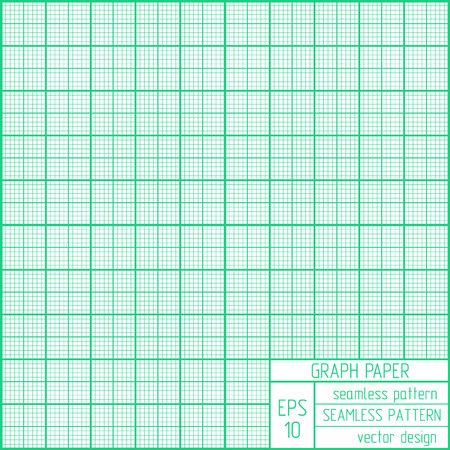 Graph paper seamless pattern. Real scale illustration. 向量圖像