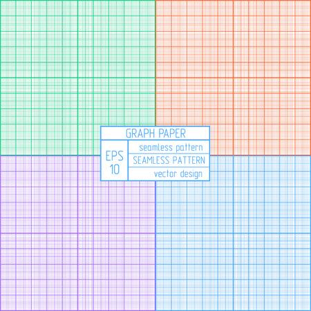 hoja cuadriculada: Patr�n de papel cuadriculado. Conjunto scale.Multicolor Real.