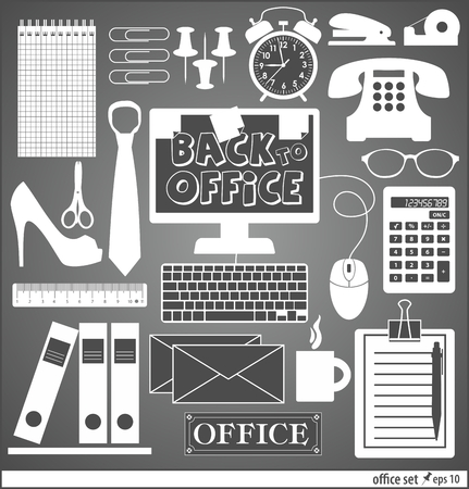 blak white: Office set abstract background.