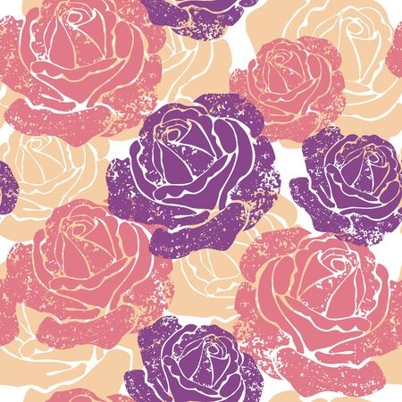Seamless texture with flowers. Endless floral pattern. Seamless pattern can be used for wallpaper, pattern fills...... Vector