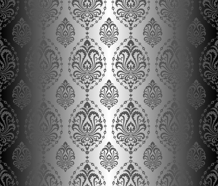 Seamless ornament texture. Vector pattern with victorian flowers.